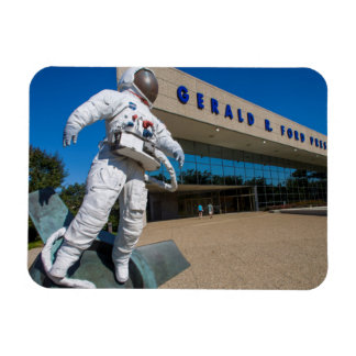 Man In Space Sculpture Rectangular Photo Magnet
