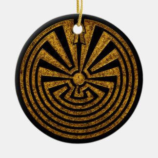 Man in the Maze, Journey through life, I'itoi, Ceramic Ornament