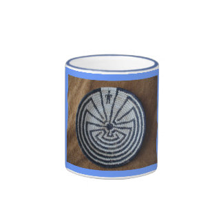 Man in the MAZE Tohono O'odham Bas... - Customized Ringer Coffee Mug