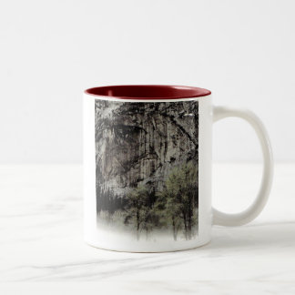 Man in the Mountain, Yosemite National Park Two-Tone Coffee Mug