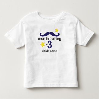 Man In Training 3rd Birthday Toddler T-Shirt