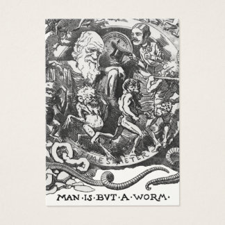 Man Is But A Worm Business Card
