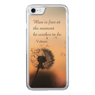 Man is Free Voltaire Quote Carved iPhone 8/7 Case