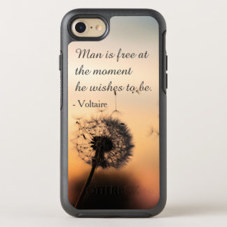 Man is Free Voltaire Quote OtterBox Symmetry iPhone 8/7 Case