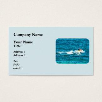 Man Jet Skiing Business Card
