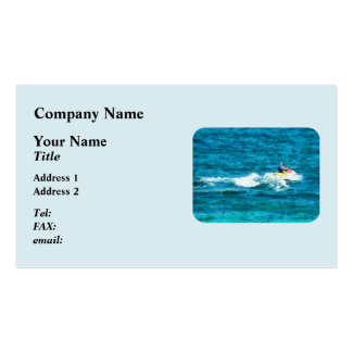 Man Jet Skiing Pack Of Standard Business Cards