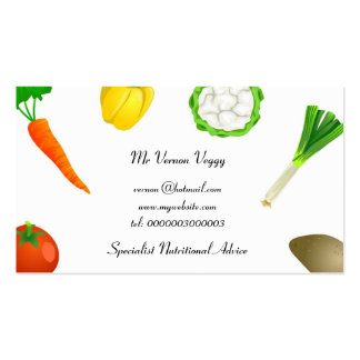 Man Juggling Vegetables Business Card Templates