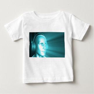 Man Listening to Music Meditating in Earphones 3d T Shirts