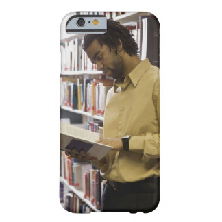 Man looking at book in library barely there iPhone 6 case