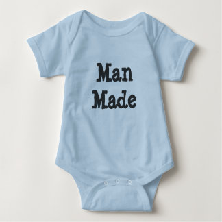 Man Made Funny Baby T Shirts
