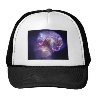 Man Made Heaven Nebula Space Art Trucker Hats