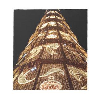 Man Made Illuminated Christmas Tree Notepads