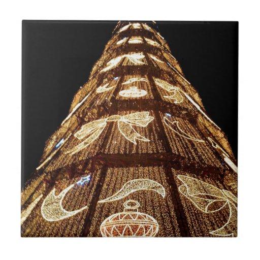 Man Made Illuminated Christmas Tree Tiles