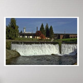 Man-Made Waterfall Poster