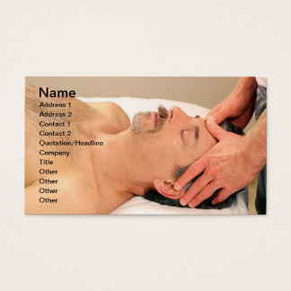 Man Massaging Male Face Business Card