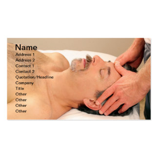 Man Massaging Male Face Pack Of Standard Business Cards