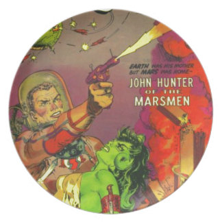 Man O' Mars Party Plate