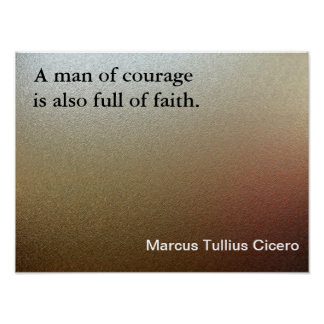 Man of courage poster