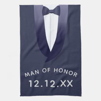 Man of Honor Midnight Blue Tuxedo Kitchen Towel