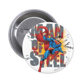 Man of Steel 6 Cm Round Badge