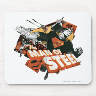 Man of Steel Collage Mouse Pad