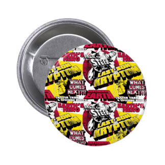 Man of Steel Red and Yellow 6 Cm Round Badge