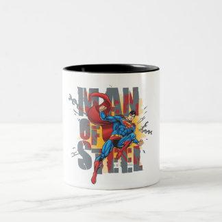 Man of Steel Two-Tone Coffee Mug