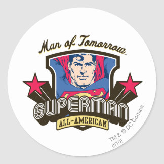 Man of Tomorrow Round Sticker