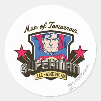 Man of Tomorrow Round Sticker