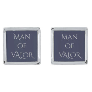 Man of Valor Cufflinks Silver Finish Cuff Links