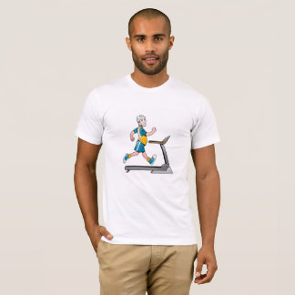 Man on a Treadmill Fitness T-Shirt