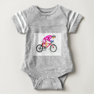 Man on Bicycle Sketch Baby Bodysuit