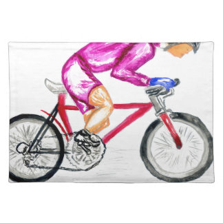 Man on Bicycle Sketch Placemat