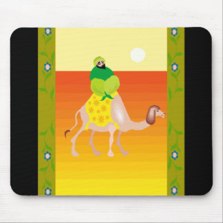 Man on camel mouse pad