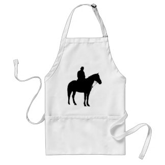Man On Horseback Silhouette Standard Apron