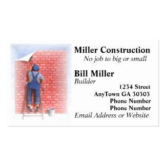 Man On Ladder Business Card