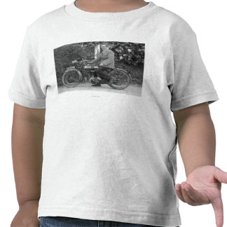 Man on Old B.S.A. Motorbike Tee Shirts