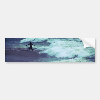 Man on Sea Waves Bumper Sticker