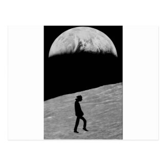 Man on the moon postcard