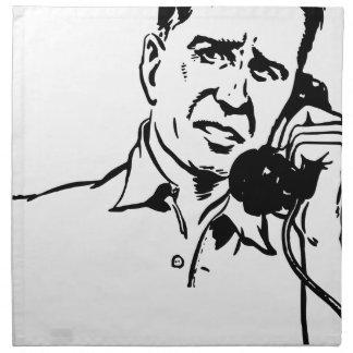 Man on the Phone Napkin