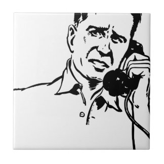 Man on the Phone Tile