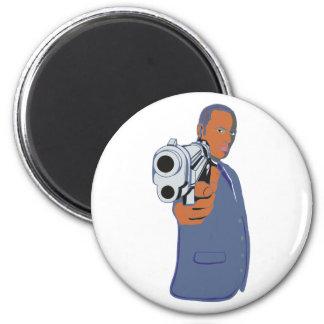 Man pistol one pistol magnet