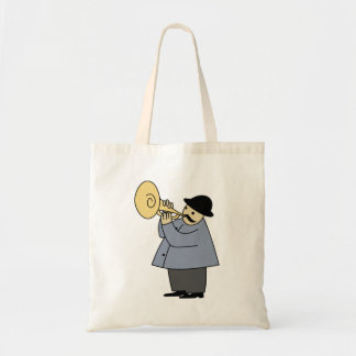 Man Playing a Musical Instrument Budget Tote Bag