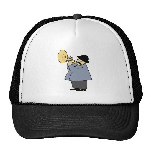 Man Playing a Musical Instrument Mesh Hat