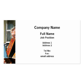 Man Playing Accordion Pack Of Standard Business Cards