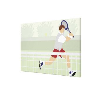 Man playing tennis 2 canvas print