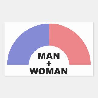 man plus woman sticker