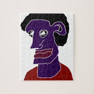 Man Portrait Caricature Jigsaw Puzzle