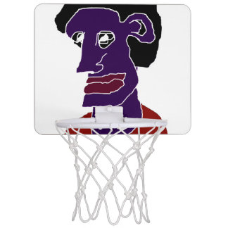 Man Portrait Caricature Mini Basketball Hoop