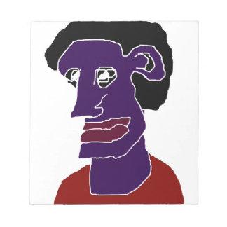 Man Portrait Caricature Notepad